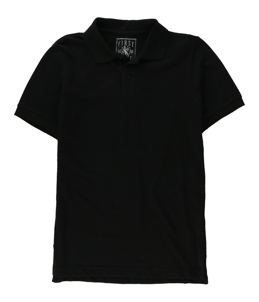 First Draft Mens Solid Pique Rugby Polo Shirt