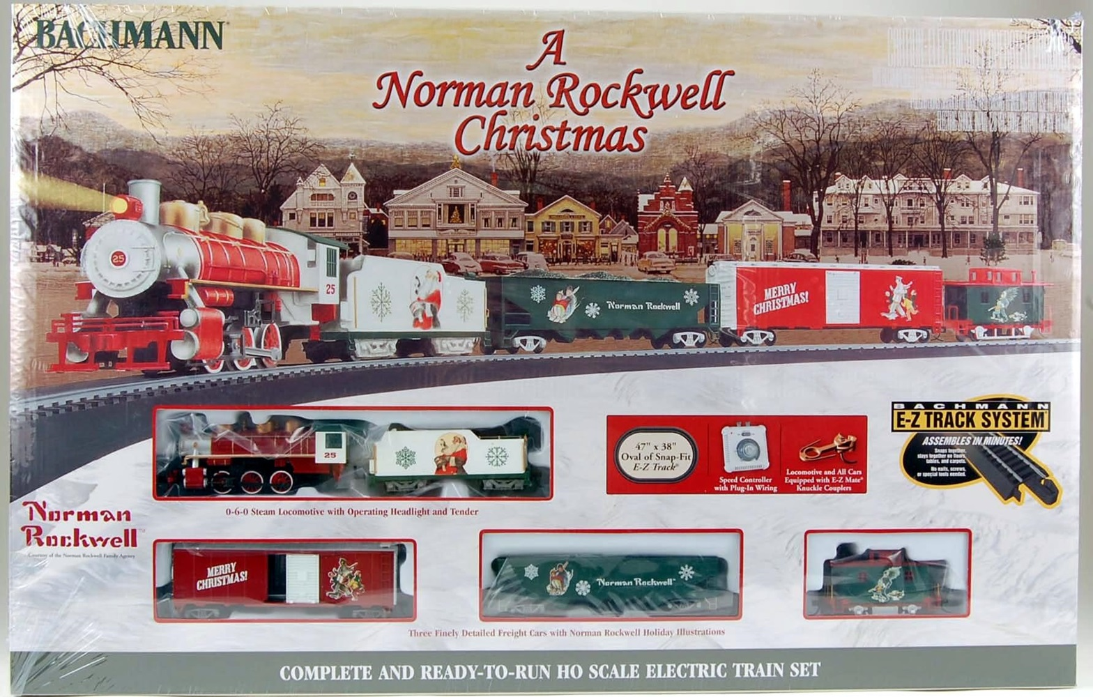 Bachmann HO Scale Train Set Analog A Norman Rockwell Christmas 00741 ...