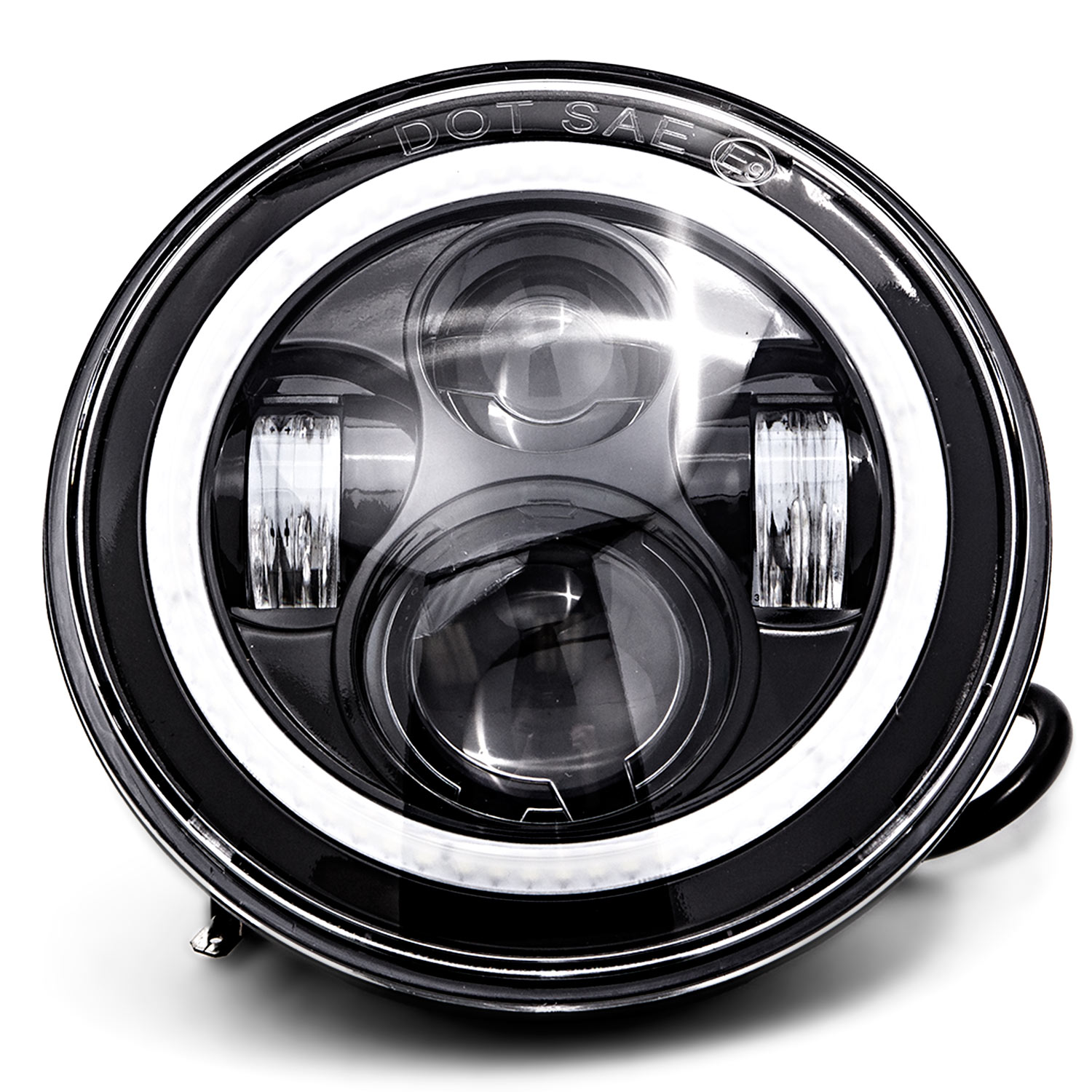 2011-2013 Jeep Grand Cherokee Krator Pair of 7 Round LED Headlight with High Low Beam for 1997-2016 Jeep Wrangler 2009-2015 Dodge Journey