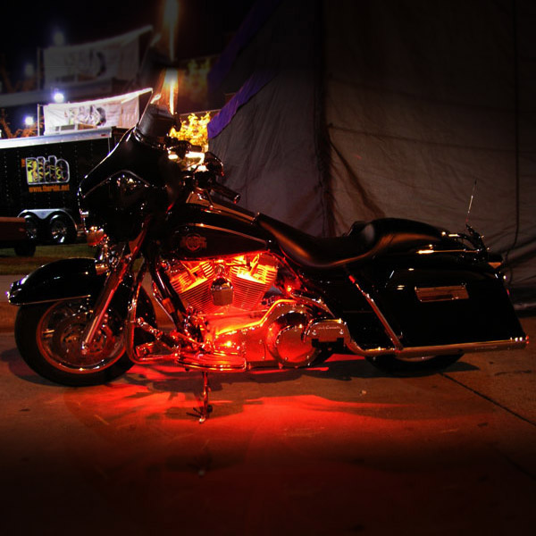 7 color led light flex line for harley davidson dyna glide. Black Bedroom Furniture Sets. Home Design Ideas