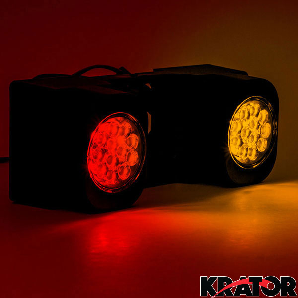 Krator LED Hitch Light Brake Reverse Signal Light for Trucks Trailer SUV 2 Receiver for Ford F-350 F-2500 HD Super Duty