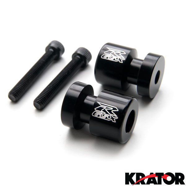 Krator Spike Black Swingarm Spools Sliders Motorcycle For Suzuki RF900//R 1994-1997