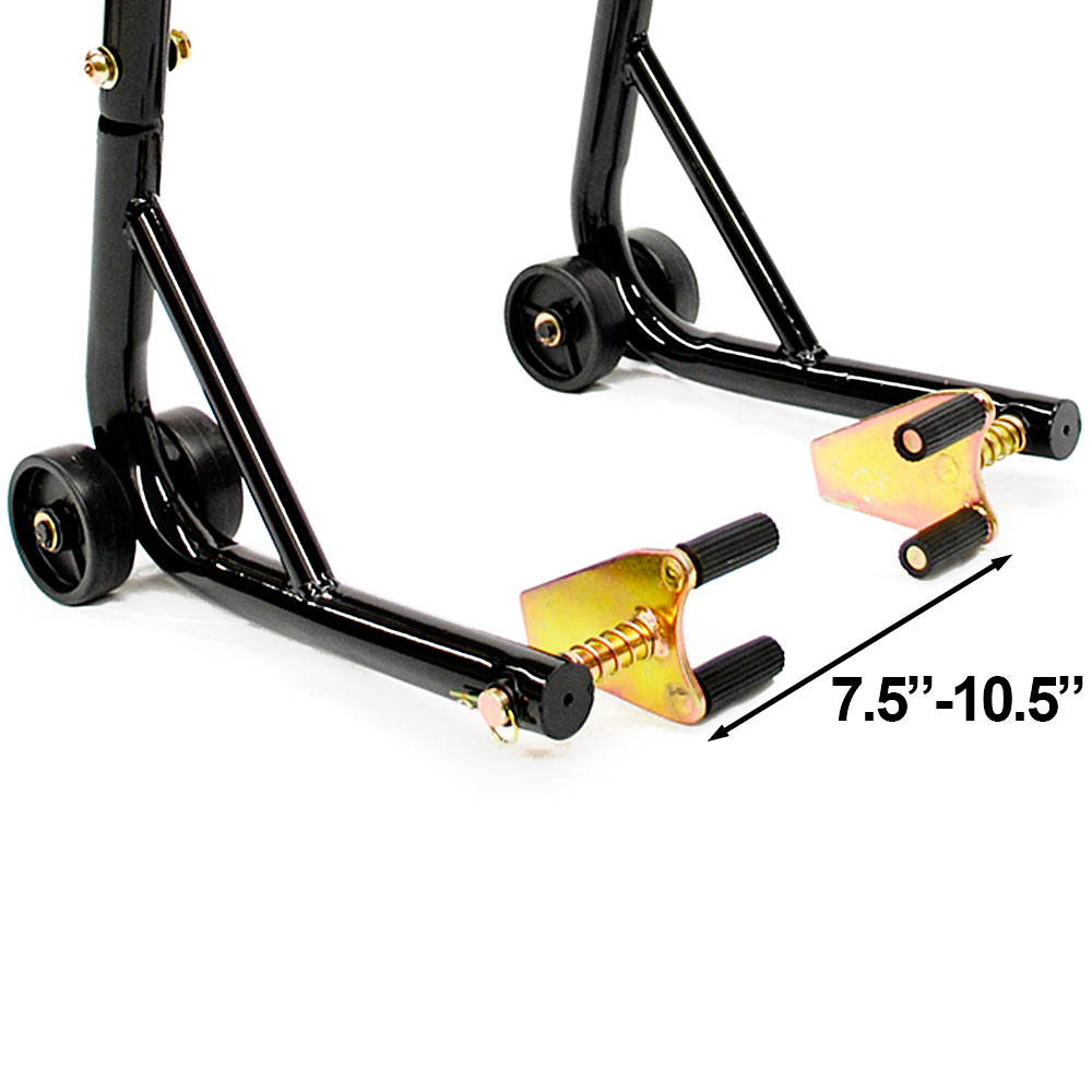 w//Spools For Kawasaki ZX1000 Ninja ZX-10R 2011-2012 Motorcycle Front+Rear Dual Lift Stand