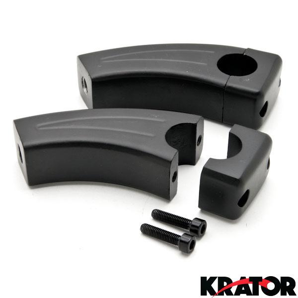 3 5 U0026quot  Black Handlebar Risers For Harley Davidson V