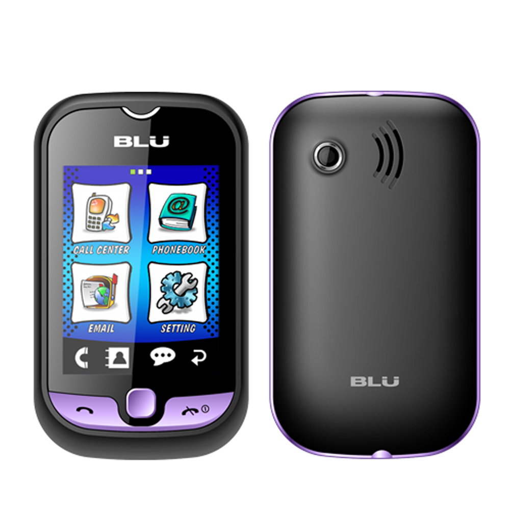 New Blu Deejay Touch TV S210 Violet Touchscreen Dual Sim Unlocked GSM