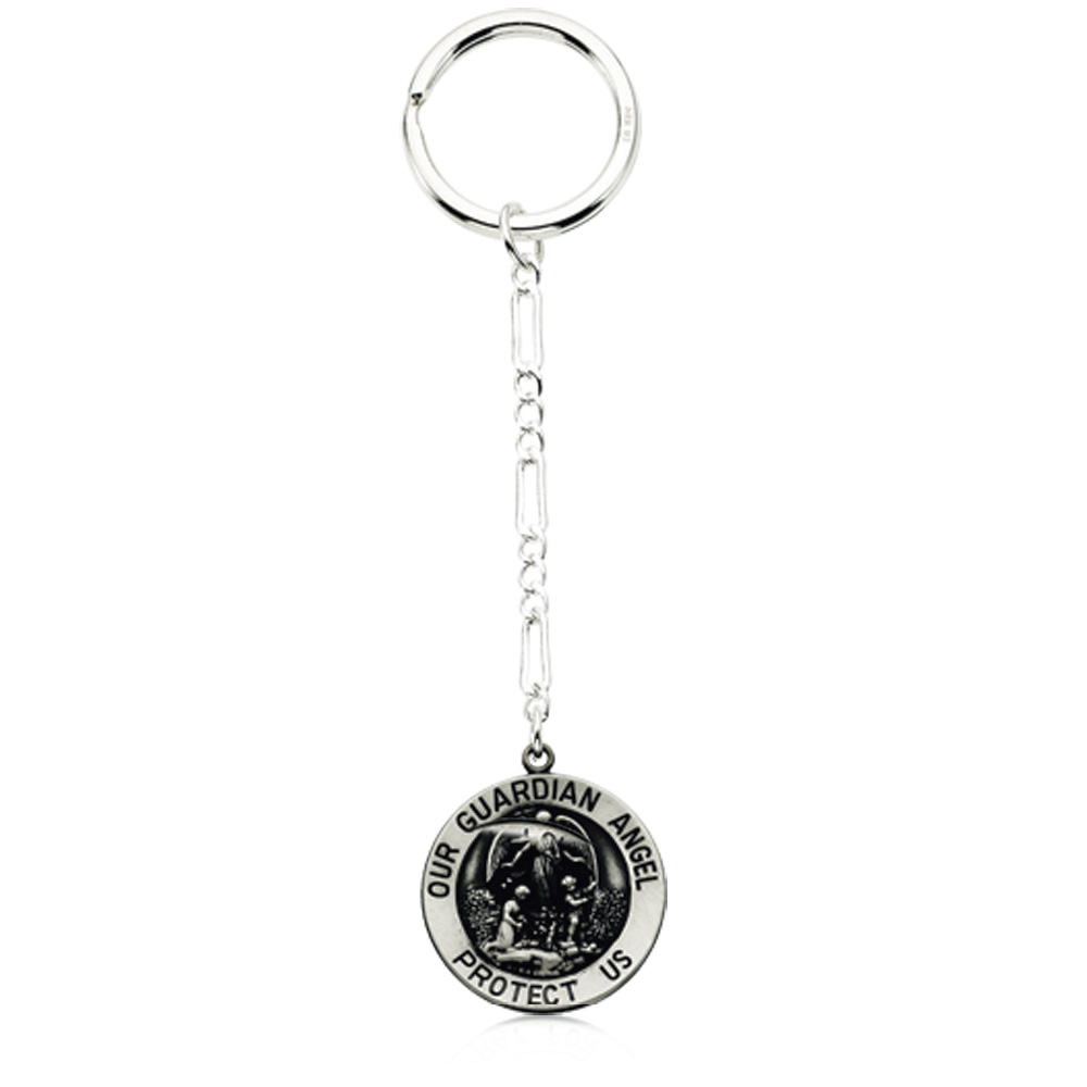 Guardian Angel Key Chain in Sterling Silver