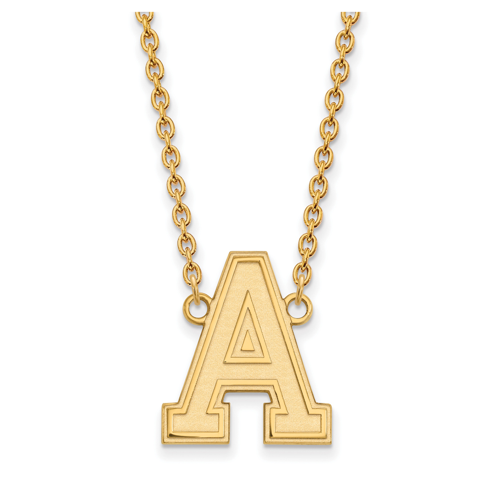 NCAA 10k Yellow Gold Military Academy Large Pendant Necklace N11917