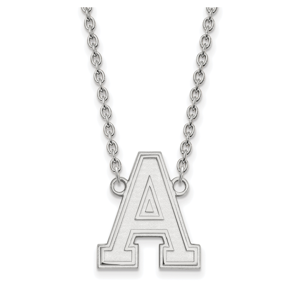 NCAA 14k White Gold Military Academy Large Pendant Necklace N12105