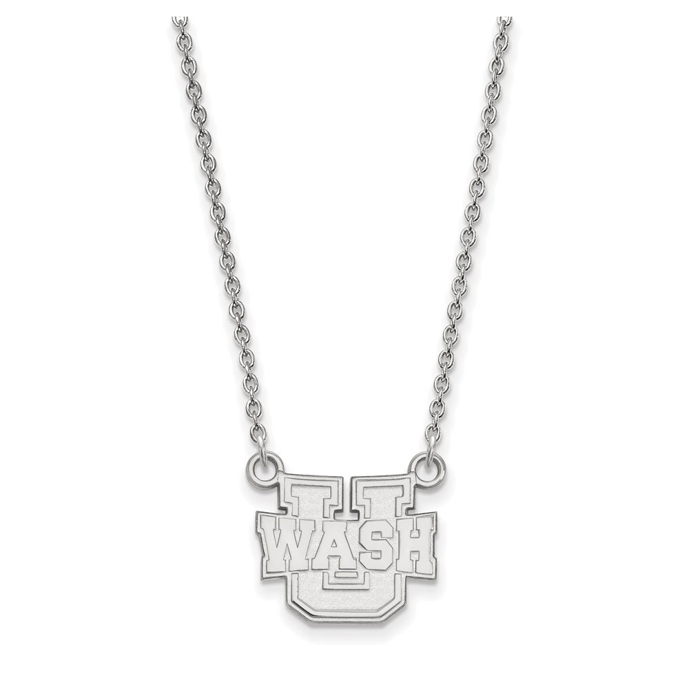 NCAA 10k White Gold Washington U St. Louis Small Pendant Necklace N12996