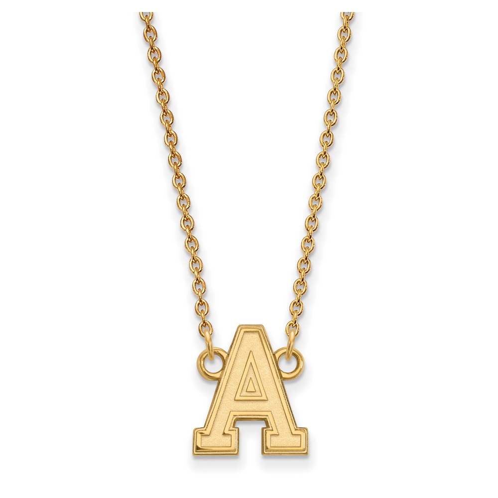 NCAA 10k Yellow Gold Military Academy Small Pendant Necklace N13195