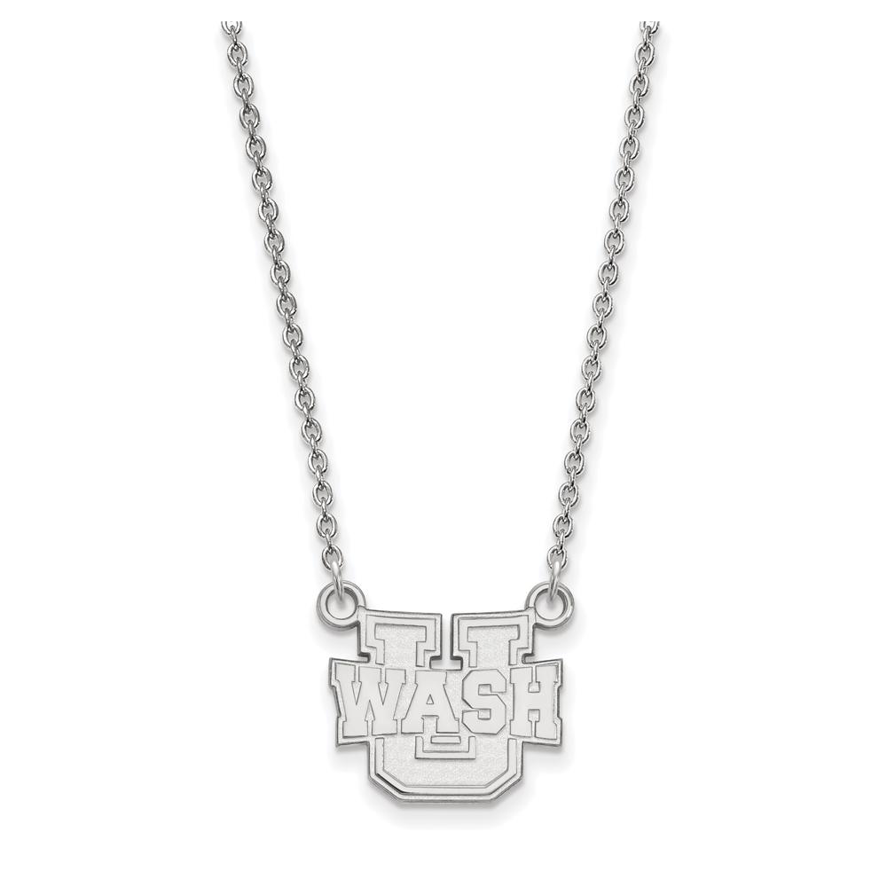 NCAA 14k White Gold Washington U St. Louis Small Pendant Necklace N13346