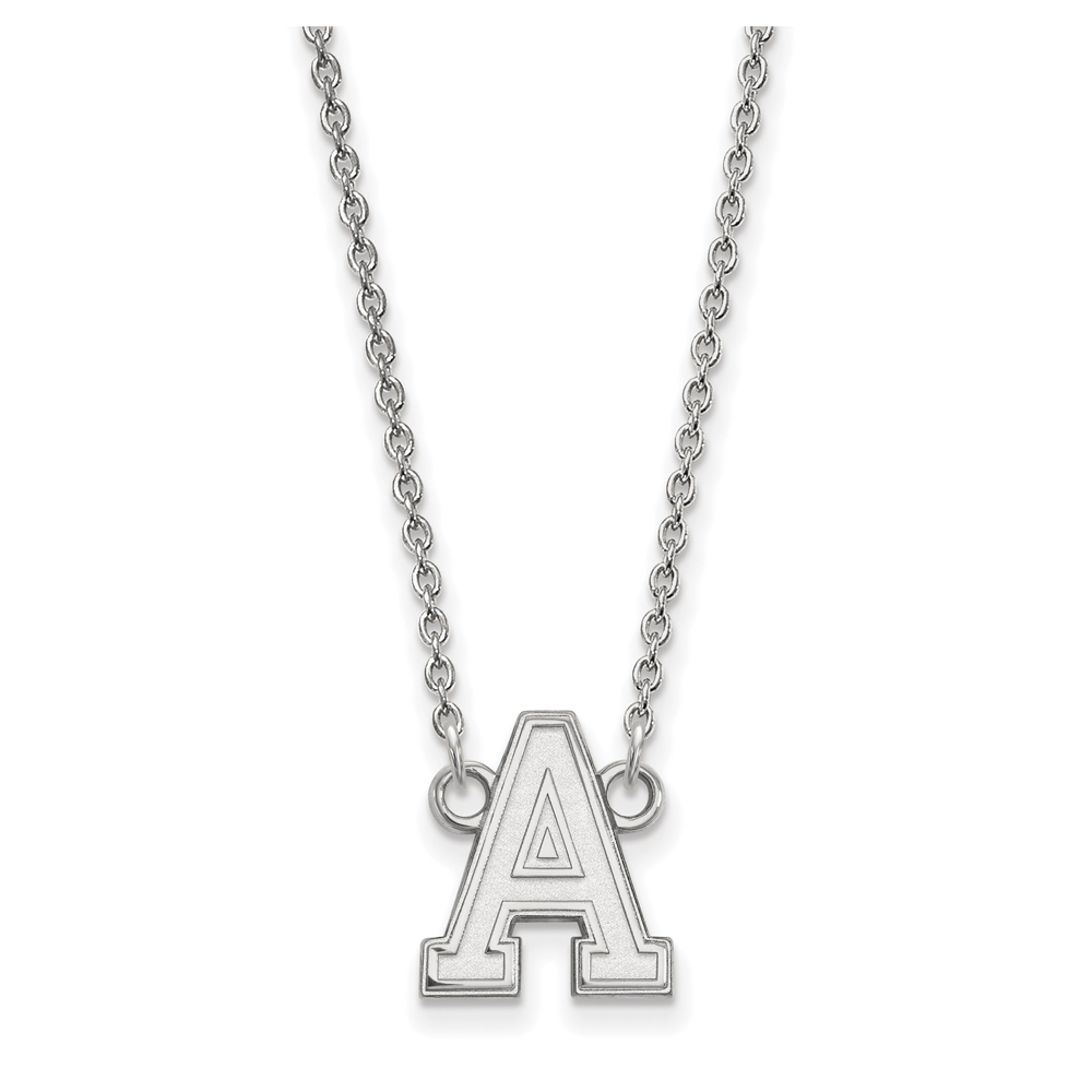 NCAA 14k White Gold Military Academy Small Pendant Necklace N13370