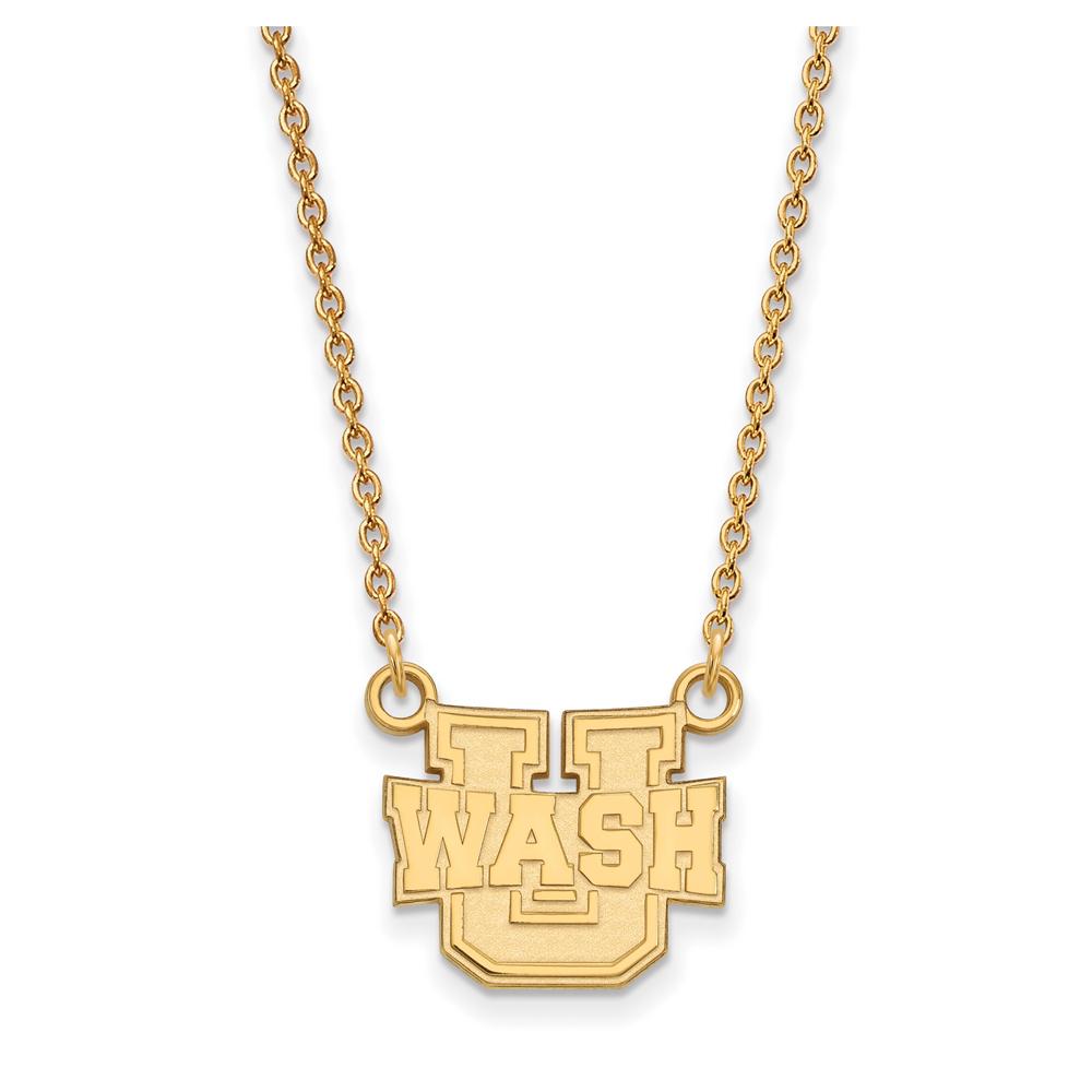 NCAA 18k Gold Plated Silver Washington U St. Louis Sm Pendant Necklace N13698