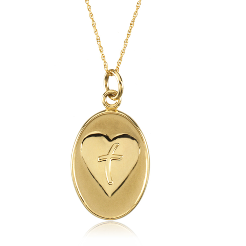 Loss of Father Memorial Necklace in 14k Yellow Gold N8100