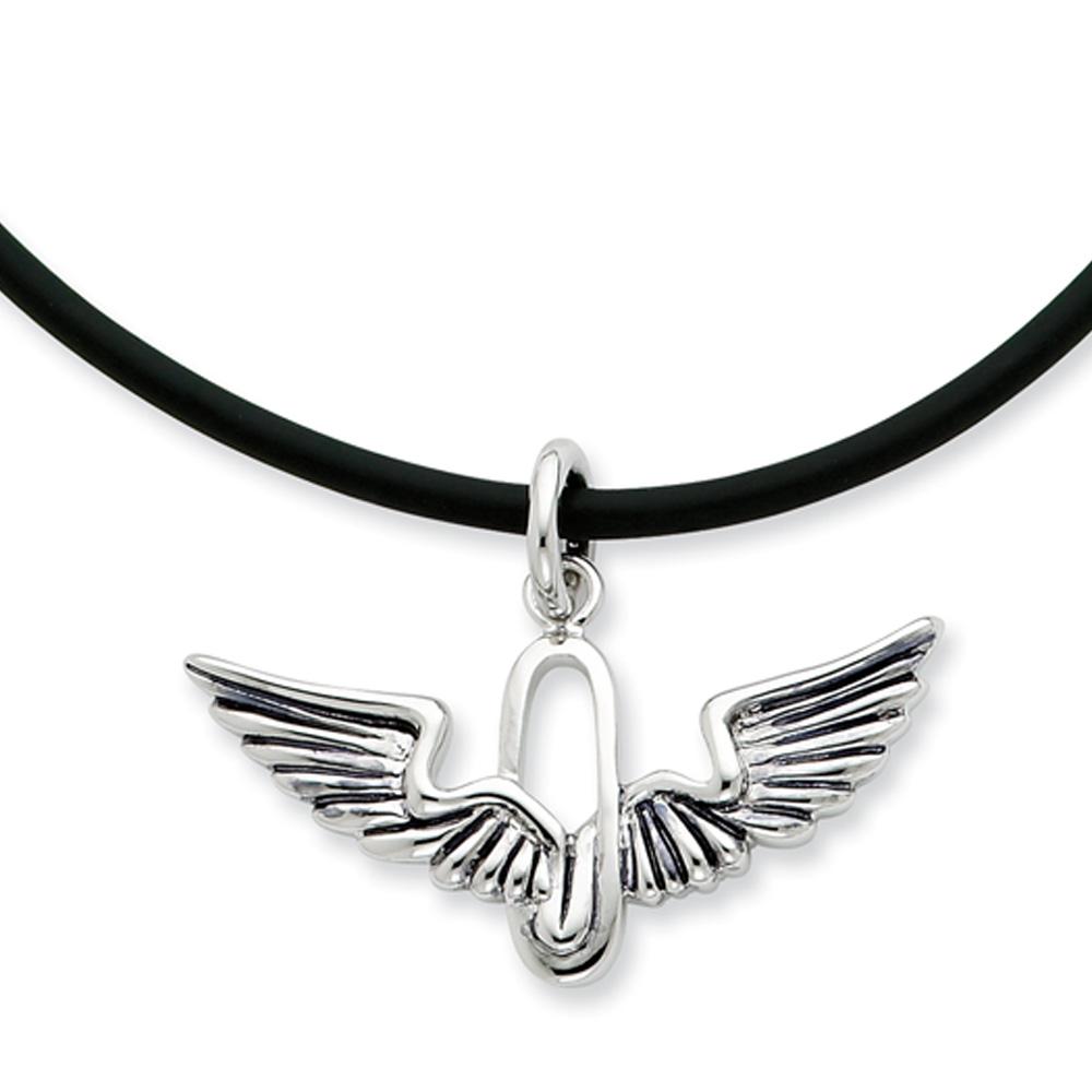 Renewed Strength, Wings Necklace in Sterling Silver N8965
