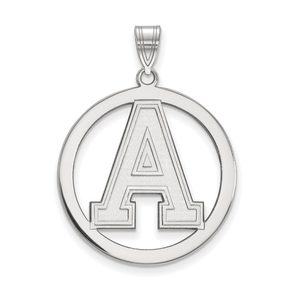 NCAA Sterling Silver Military Academy L Circle Pendant P15299