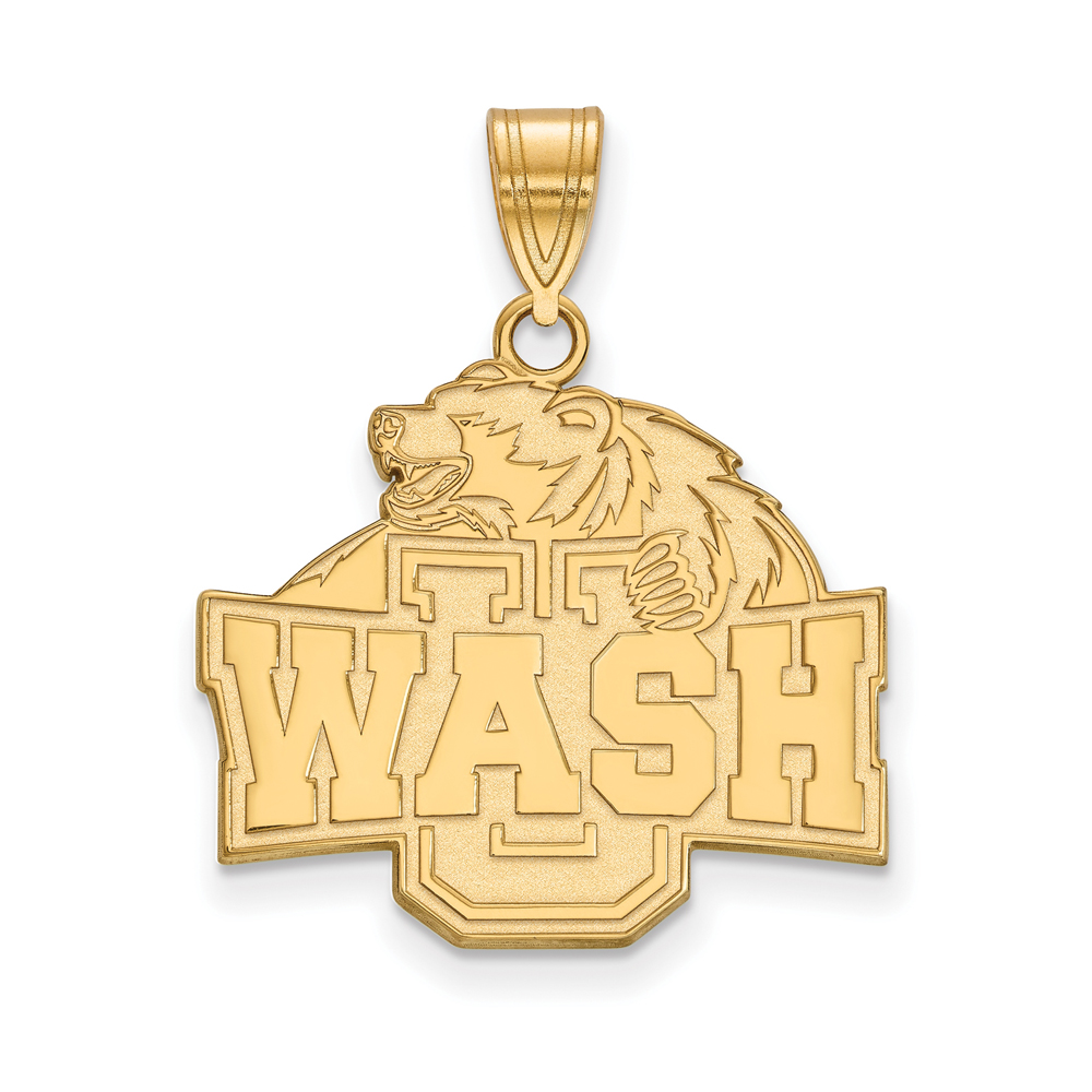 NCAA 10k Yellow Gold Washington U. St. Louis Large Pendant P16162