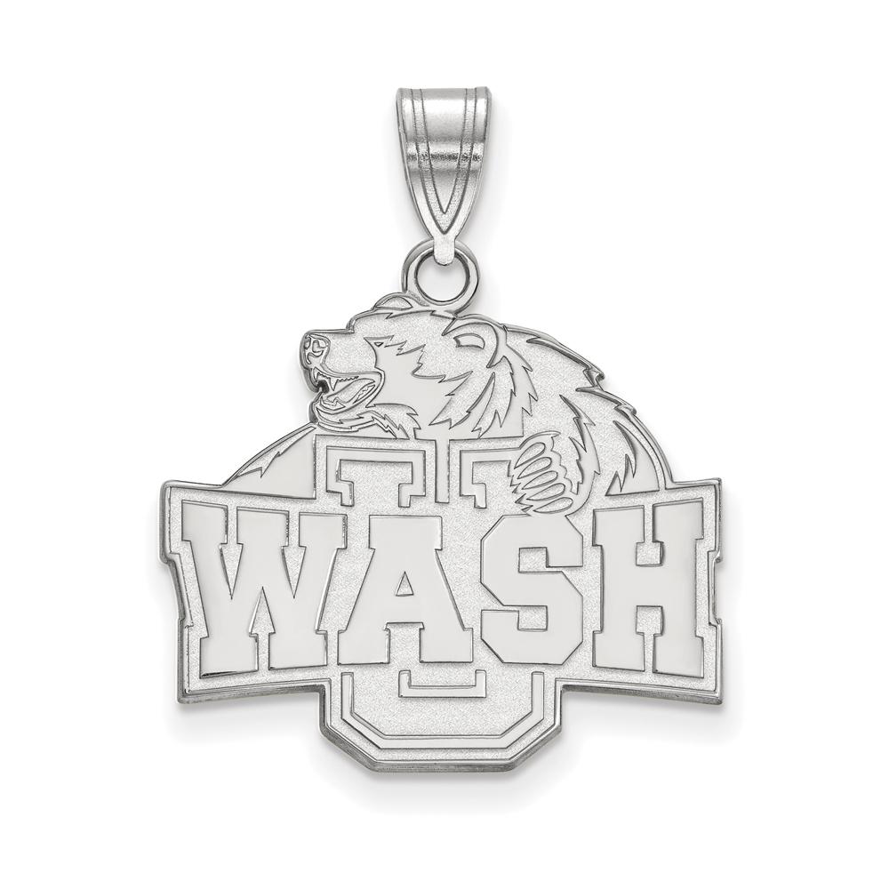 NCAA 14k White Gold Washington U. St. Louis Large Pendant P16622