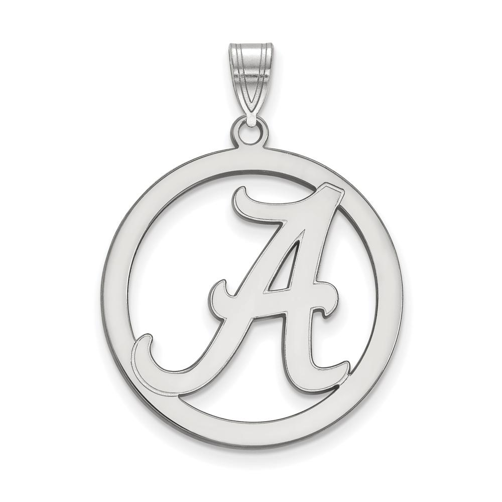 NCAA Sterling Silver U. of Alabama L Circle Pendant P18295
