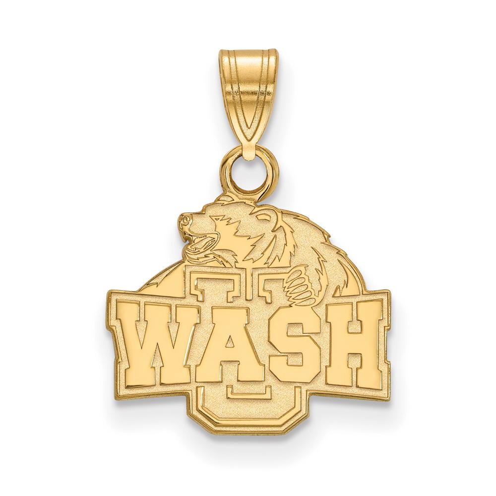 NCAA 10k Yellow Gold Washington U. St. Louis Small Pendant P20074
