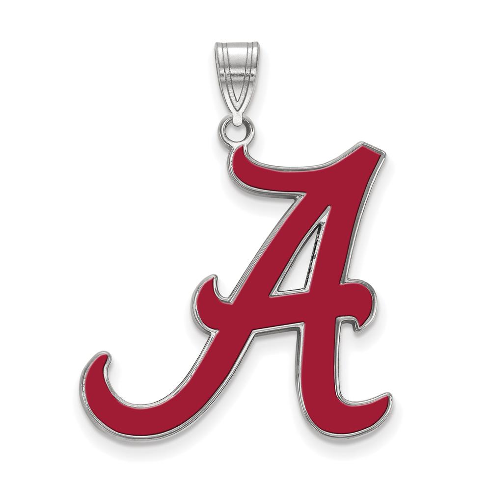 NCAA Sterling Silver U. of Alabama XL Enamel Pendant P21470