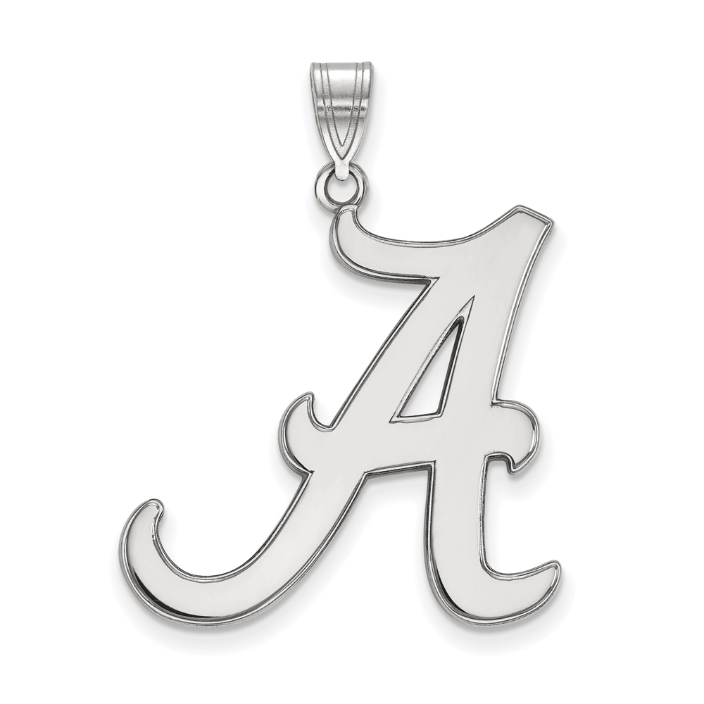 NCAA 10k White Gold U. of Alabama XL Pendant P21560