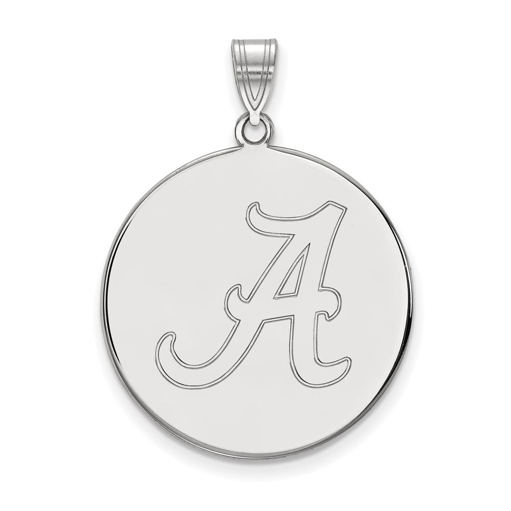NCAA 10k White Gold U. of Alabama XL Disc Pendant P21698