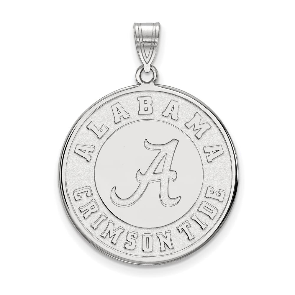 NCAA 14k White Gold U. of Alabama XL Disc Pendant P22058