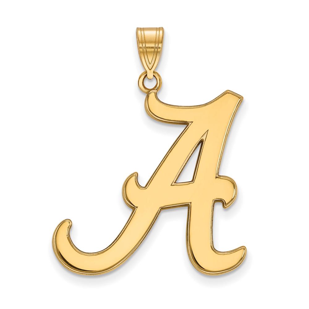 NCAA 14k Yellow Gold U. of Alabama XL Pendant P22146