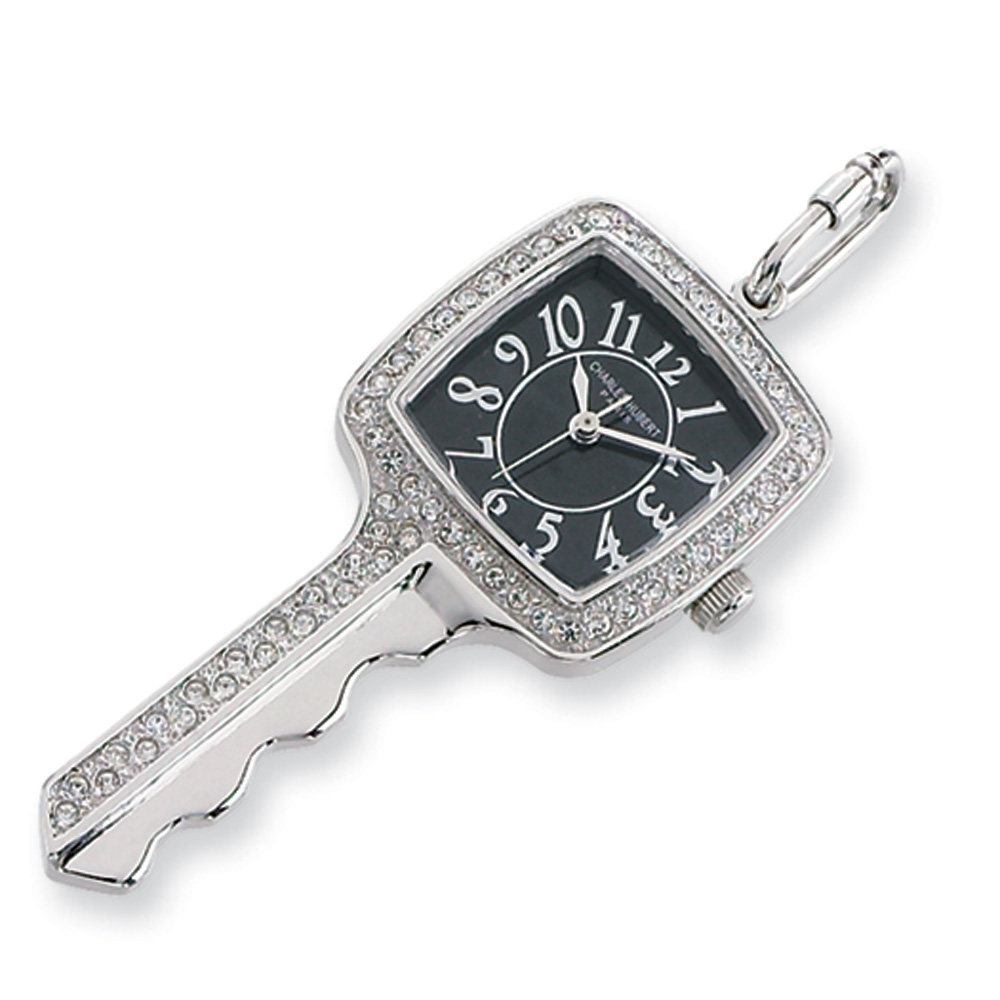 Ladies, Stainless Steel, Key Pendant Watch Necklace