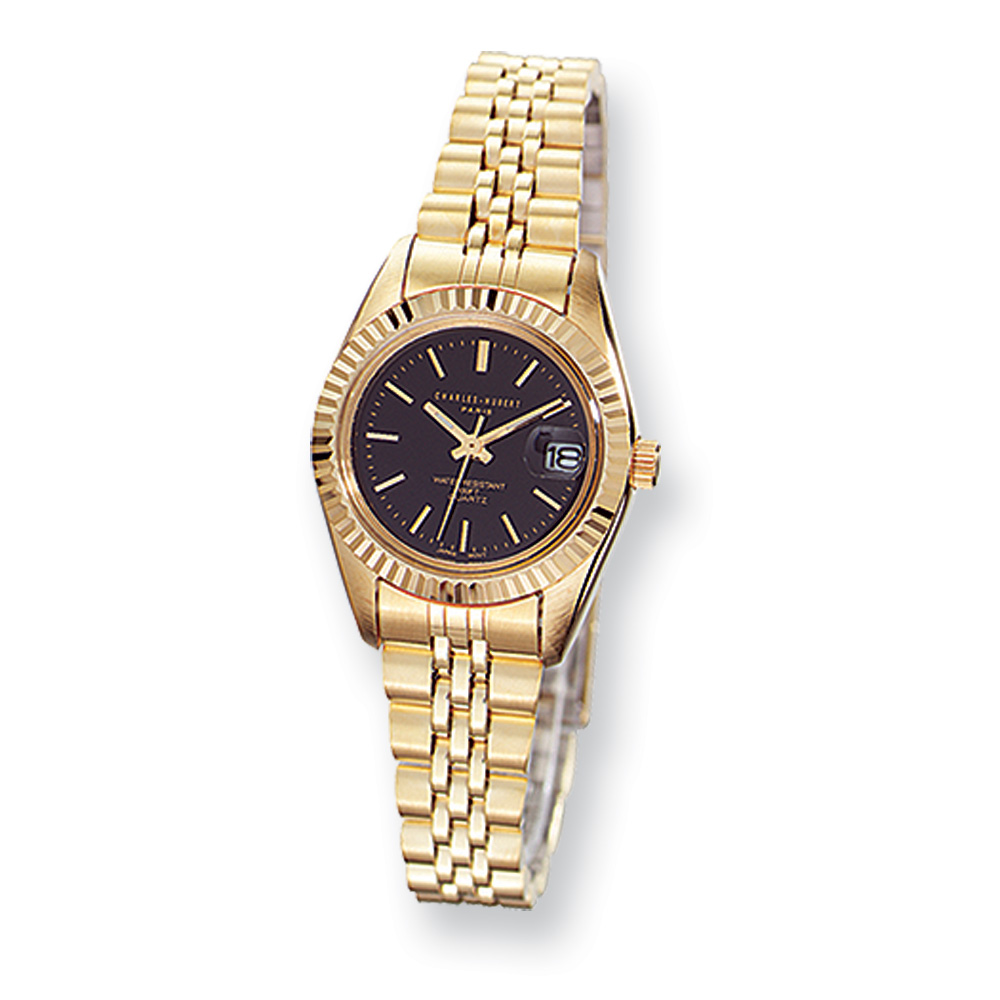 Ladies Gold-plated, Panther Link Watch by Charles Hubert