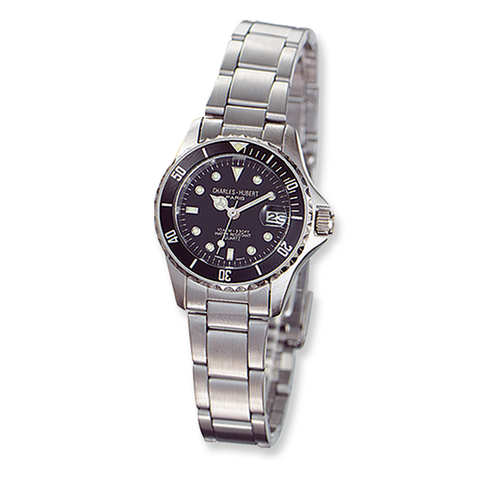 Ladies Rotating Diver's Bezel Watch by Charles Hubert