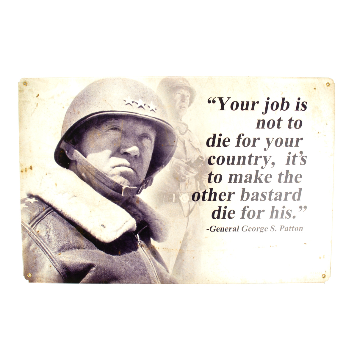 General George S Patton Quote Poster 13x19 inches B