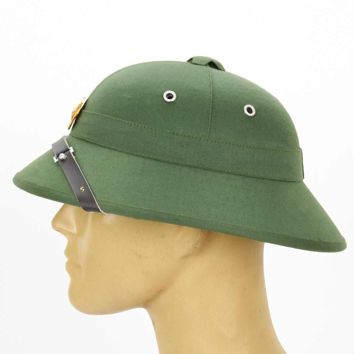 8213663a9b93c Details about North Vietnamese Army Vietcong Pith Helmet with Red Star Badge