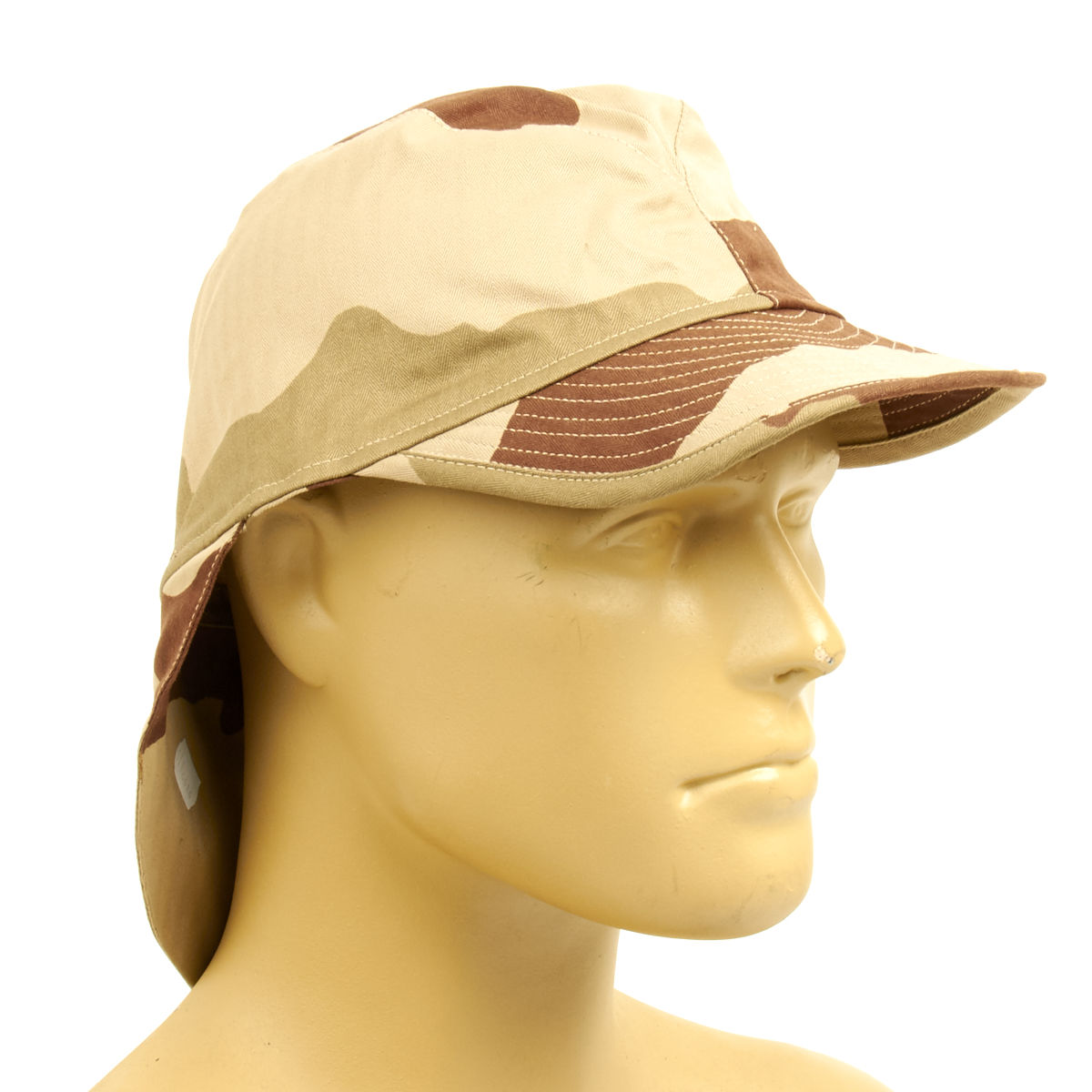 cc1fb646dce Details about French F2 CCE Field Bigeard Cap Desert Camouflage with Neck  Flap - Size 58cm