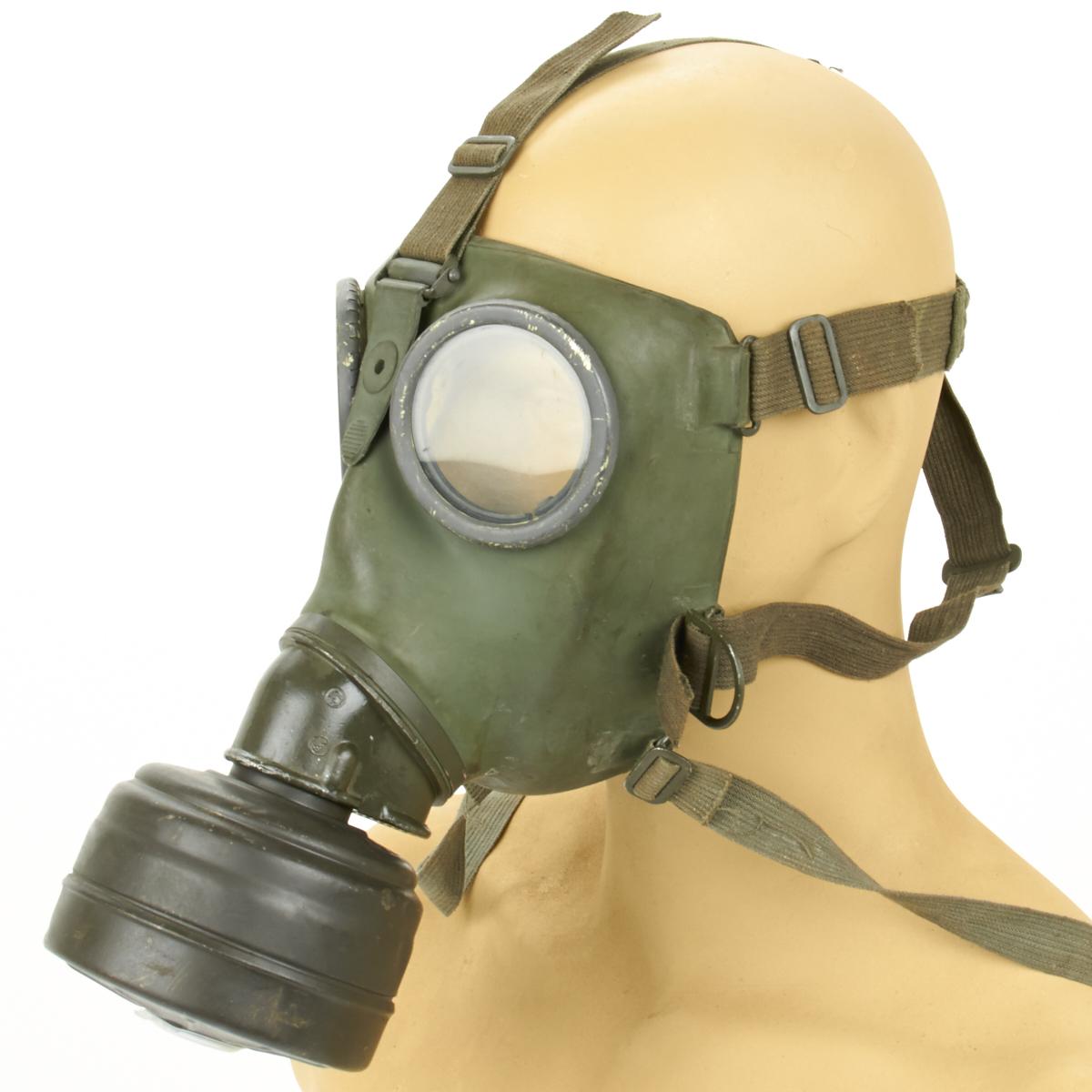 Original German WWII M-38 Gas Mask & Filter - Excellent ...