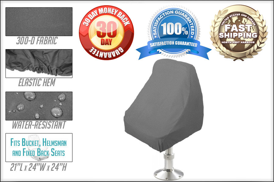 Remarkable Details About Waterproof Pedestal Pontoon Boat Seat Chair Cover 21Lx24Wx24H Grey Machost Co Dining Chair Design Ideas Machostcouk