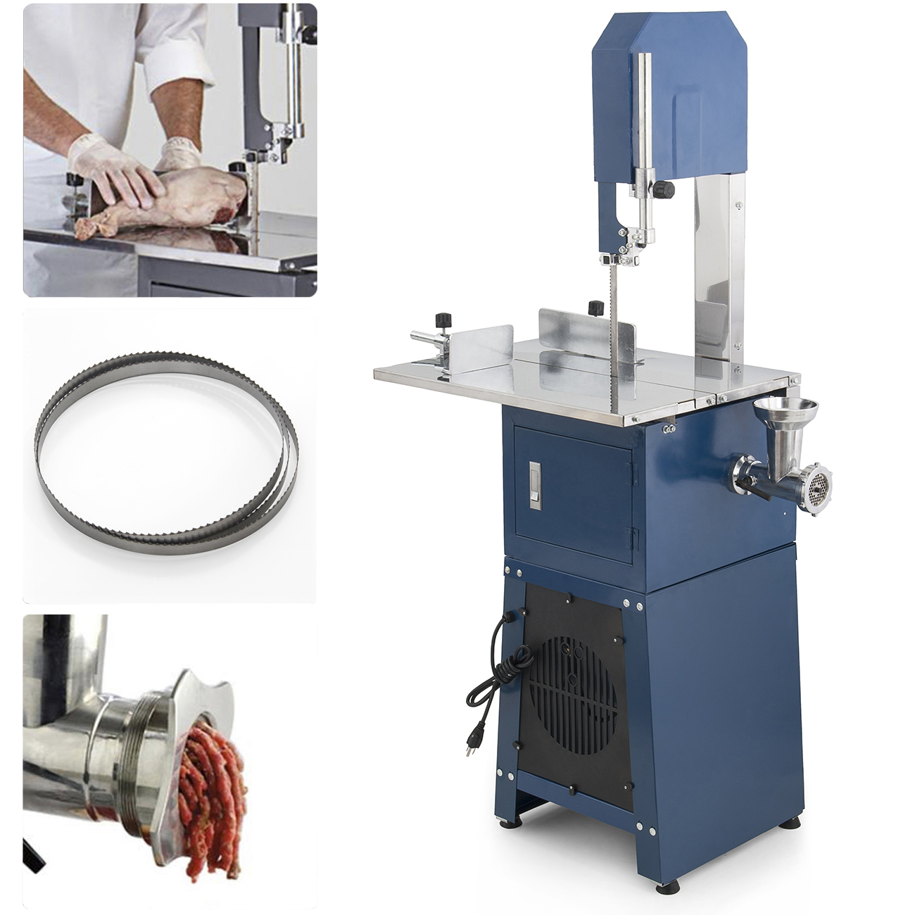550w stand up meat band saw grinder dual electric food processor 2 550w stand up meat band saw grinder dual electric food processor 2 free blades keyboard keysfo Images