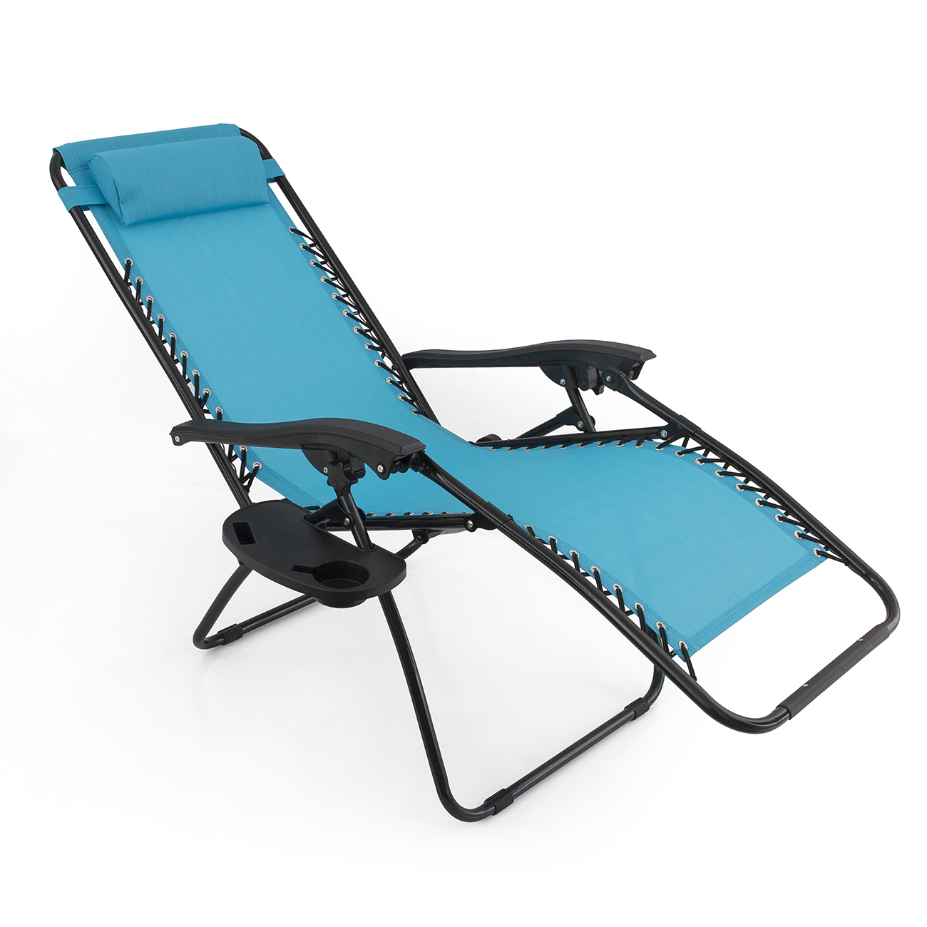 2 Folding Zero Gravity Reclining Lounge Chairs Utility