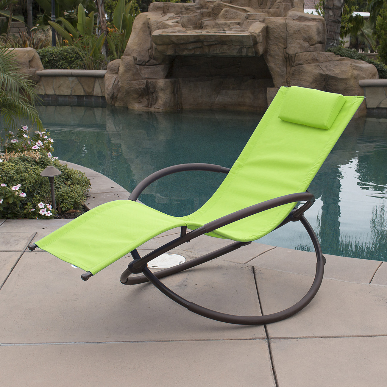 7 color orbital zero anti gravity lounge chair beach pool patio