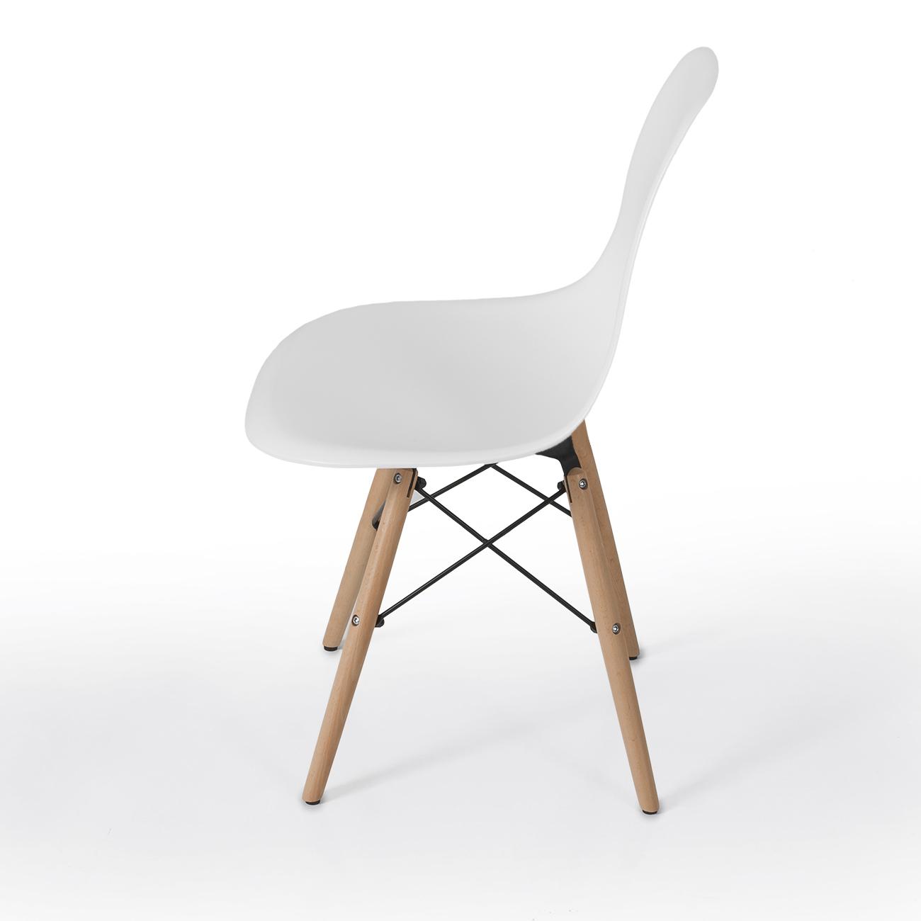 Style dsw wood base mid century modern shell dining side for Mid century modern style chairs