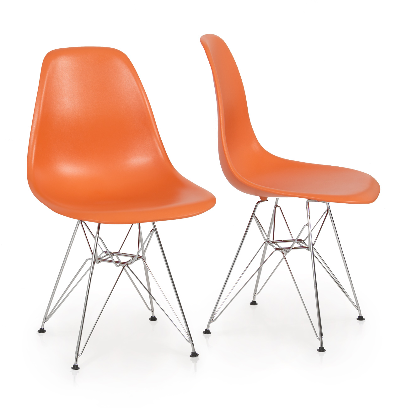 2x style dsw modern eiffel side chair molded abs plastic chairs wire base ebay. Black Bedroom Furniture Sets. Home Design Ideas