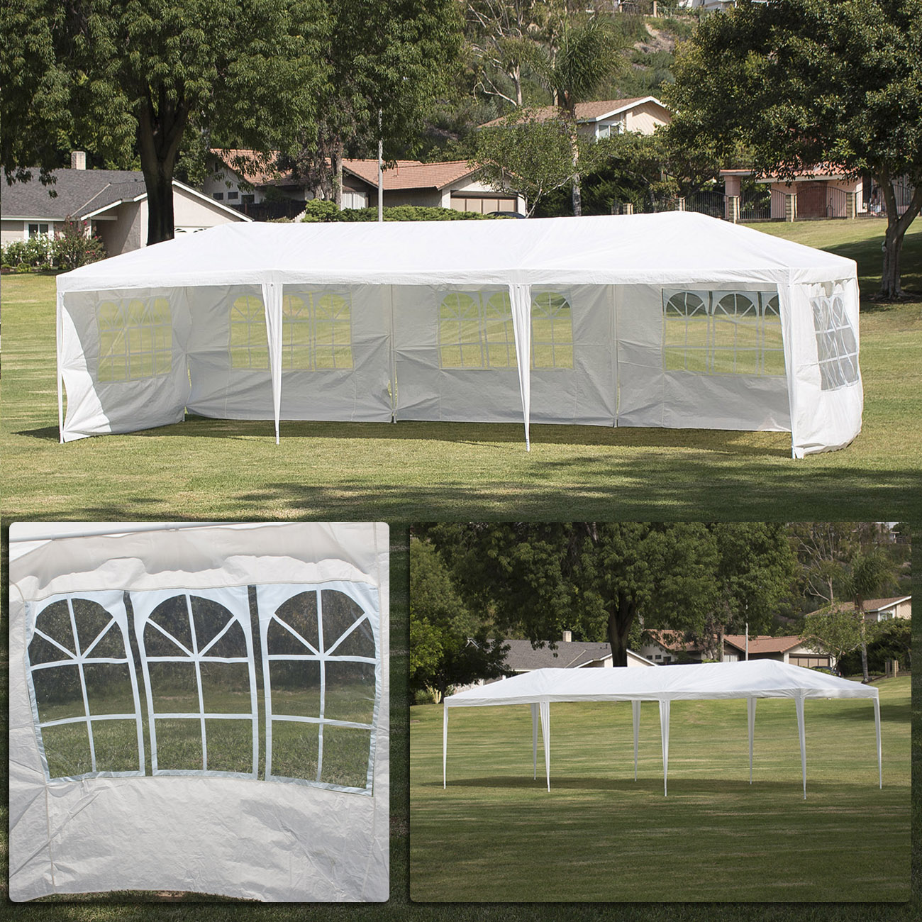 10u0027x30u0027Canopy Party Wedding Outdoor Tent Gazebo Pavilion Cater Events W/ 5  Walls