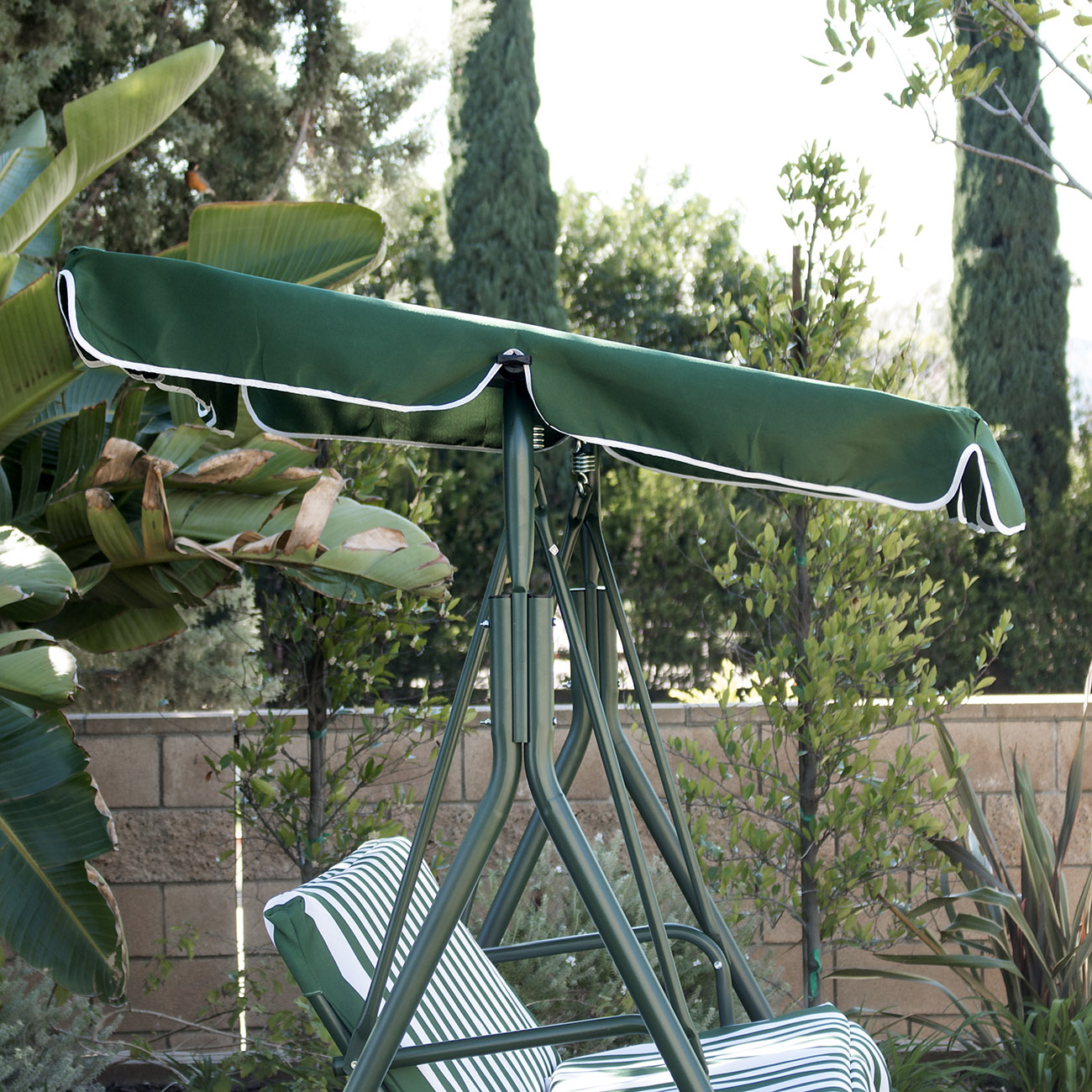 3 Person Patio Swing Canopy Tilt Awning Hammock Steel