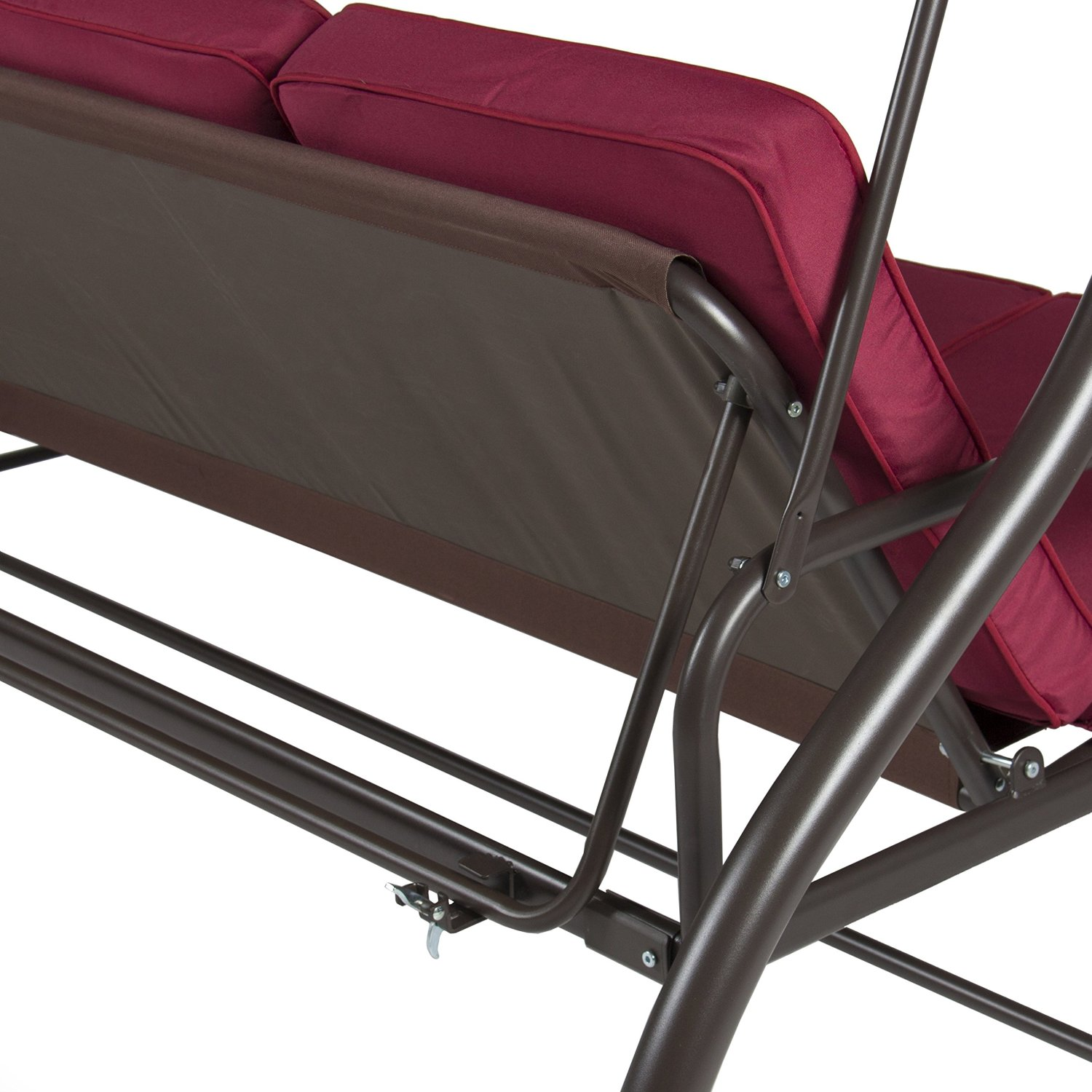 Patio Swing Converting Bed With Stand Burgundy Ebay
