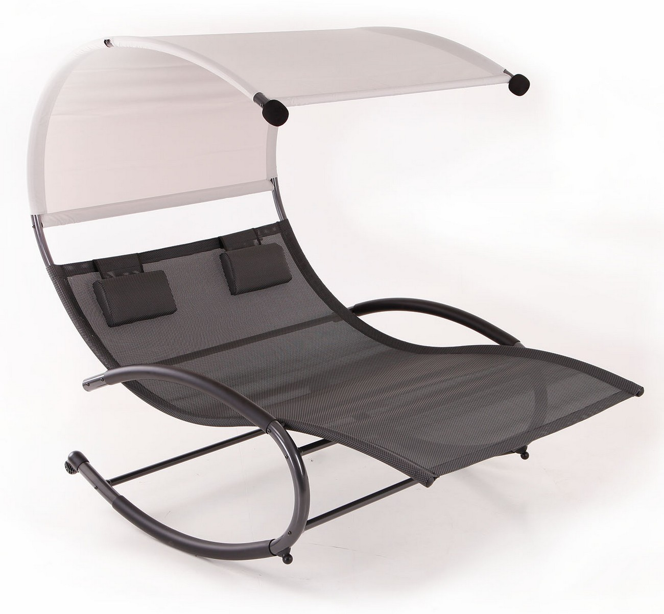 Double Chaise Rocker Patio Furniture Seat Chair Canopy
