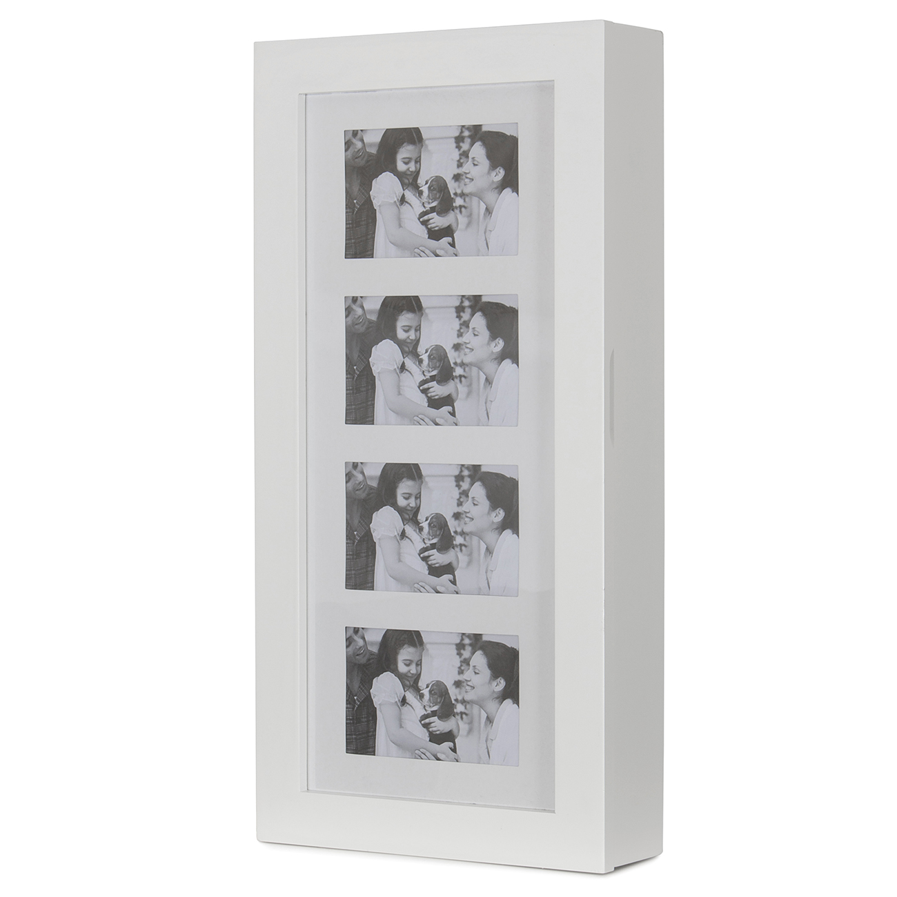 Photo Display Wall Mount Jewelry Armoire Cabinet White 791090710077