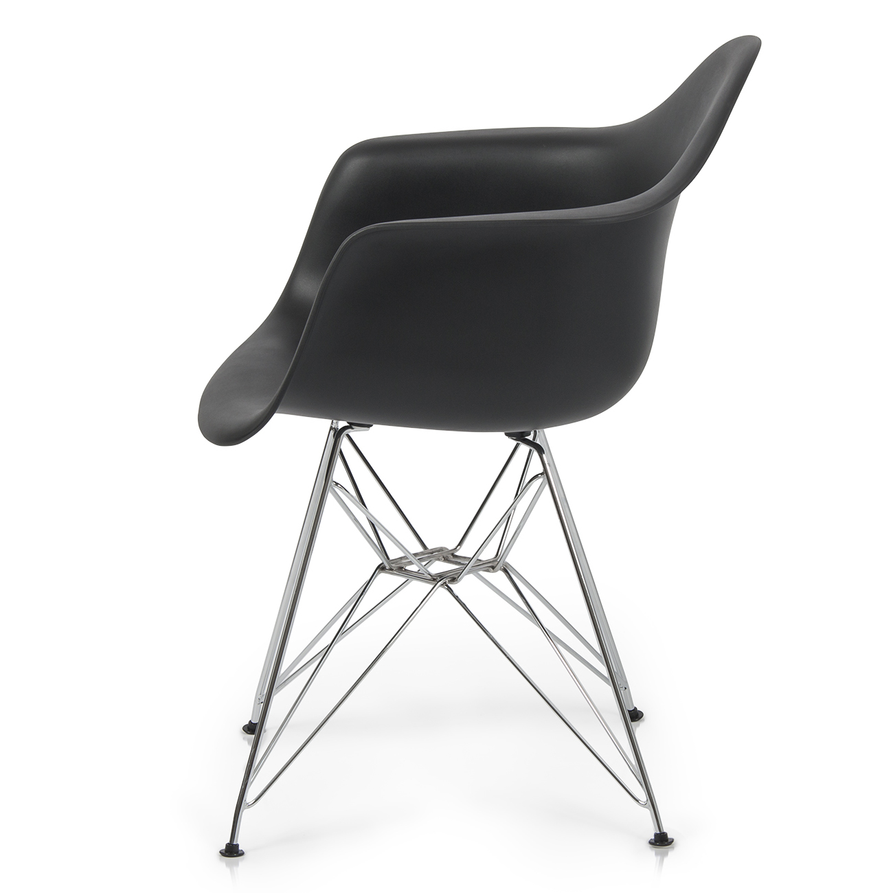 Dining Arm Chairs Black Design: Mid Century Modern Style Black Molded Plastic DAW Dining