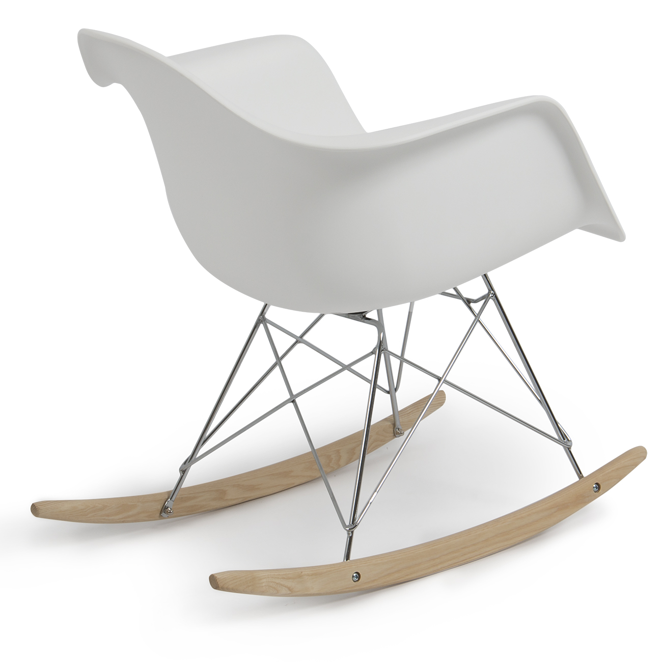 eames rar style mid century modern molded plastic rocking rocker shell arm chair ebay. Black Bedroom Furniture Sets. Home Design Ideas