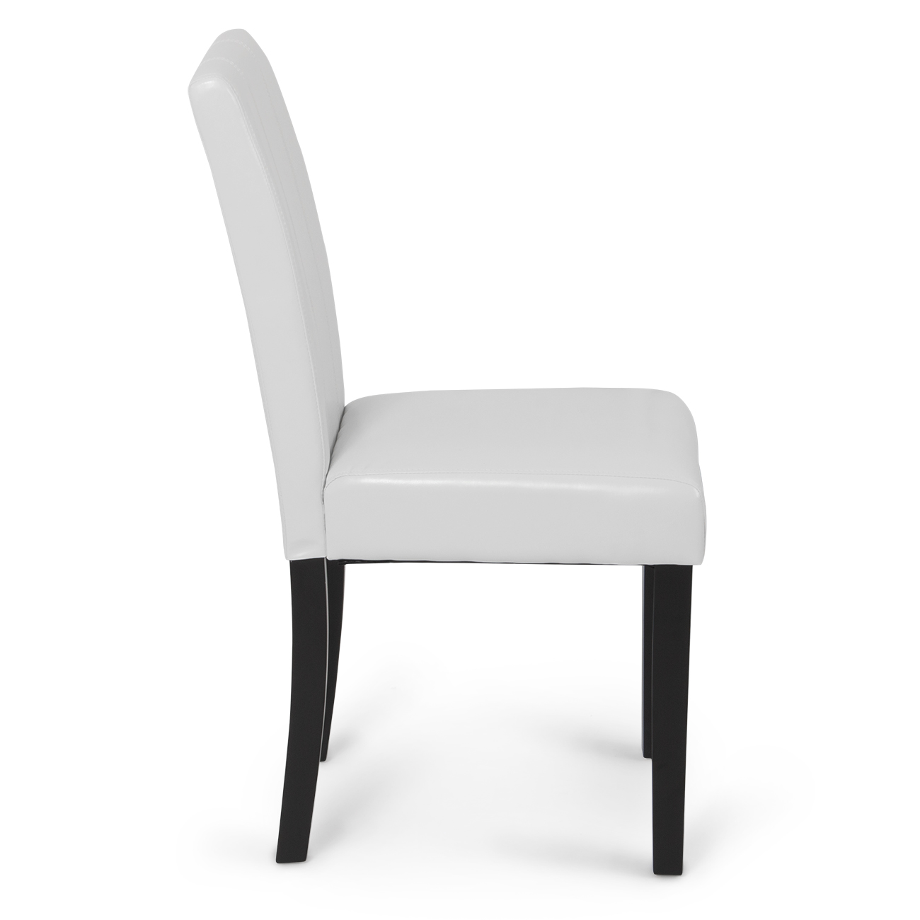 Set of 2 elegant design modern white leather parson dining for What is a parsons chair style